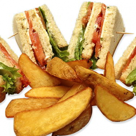 Клубный сэндвич с лососем