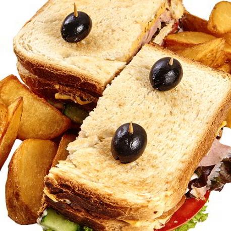 Клубный сэндвич с ветчиной