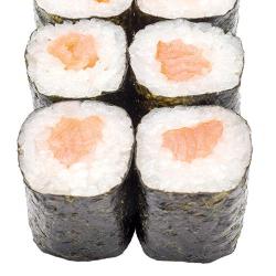 Ролл с копчёным лососем