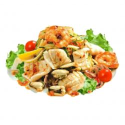 Микс салат с морепродуктами